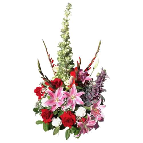 Flowers special arrangement with roses, lilies, carnations and more