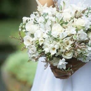 wedding white bouquet