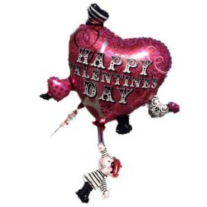 Red balloon with the word Happy Valentine's Day