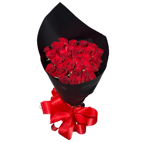 BOUQUET OF 25 ROSES RED