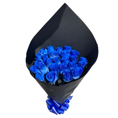 BOUQUET OF 25 ROSES BLUE